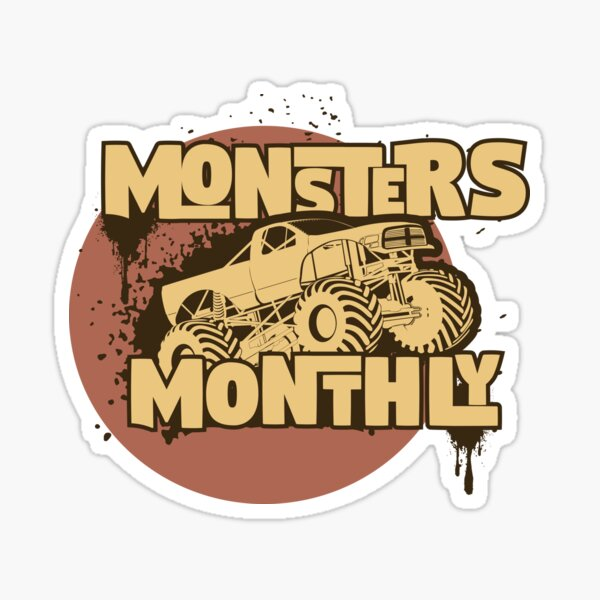Monsters Monthly Gear Sticker
