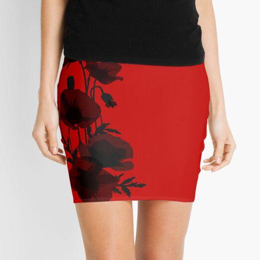 Poppy graphics design Mini Skirt
