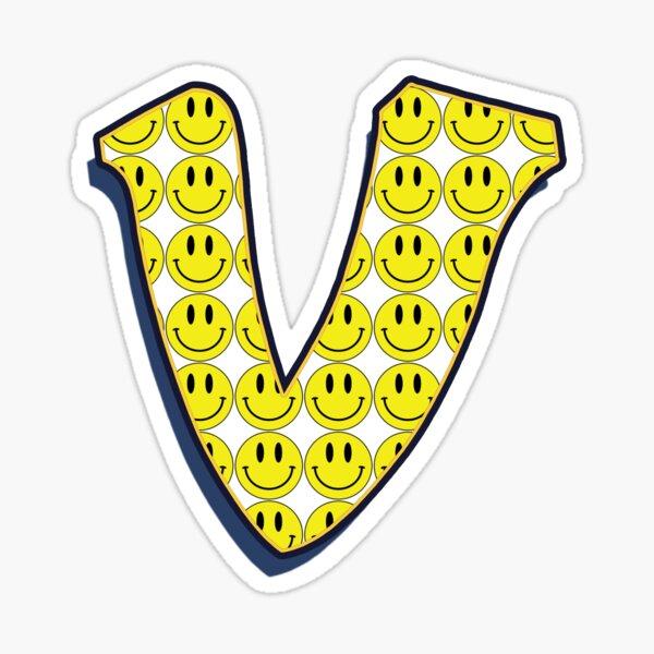 Letter V - Smile  Sticker