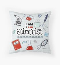 I am a Scientist Throw Pillow