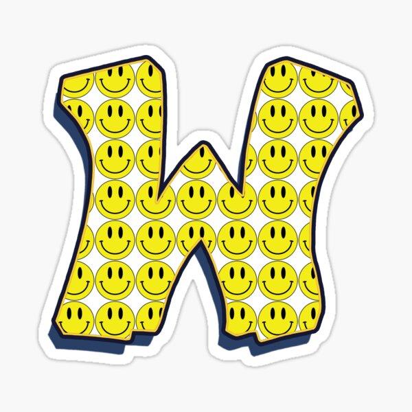 Letter W - Smile Sticker