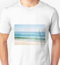 Ocean Seascape Photography, Blue Sea Landscape, Beach Waves  Unisex T-Shirt