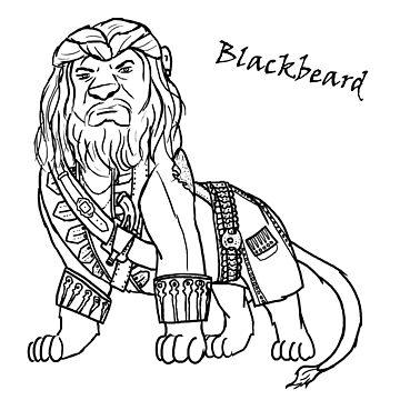 Blackbeard Lion by moosesquirrel
