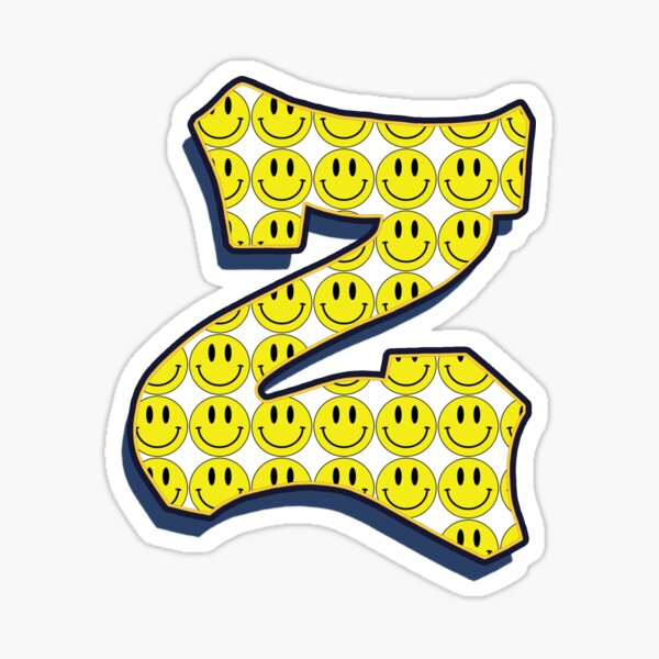 Letter Z - Smile Sticker