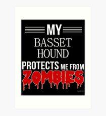 Zombie Basset Hound - Gift For Basset Hound Owner  Art Print