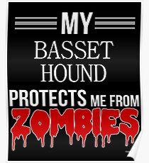 Zombie Basset Hound - Gift For Basset Hound Owner  Poster