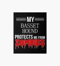 Zombie Basset Hound - Gift For Basset Hound Owner  Art Board