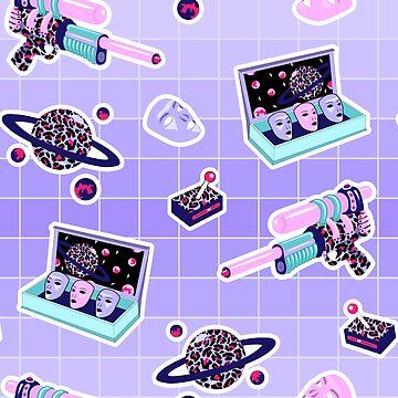 Cosmic fight I by InnaPoka