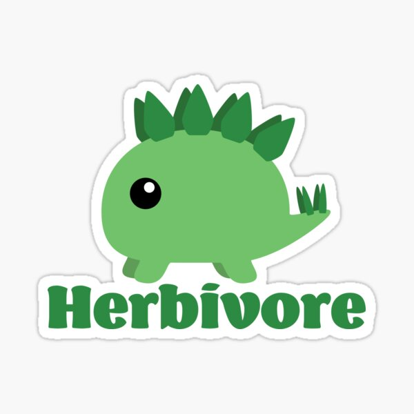 Herbivore Dinosaur (Stegosaurus) Sticker