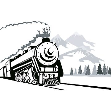 Steam Locomotive Retro by retrovectors