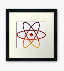 Evening Skies Science Atom Symbol Framed Print