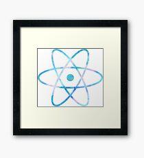 Water Color Science Atom Symbol Framed Print
