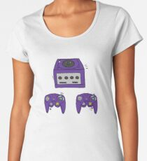 Cute Game Cube design Women's Premium T-Shirt