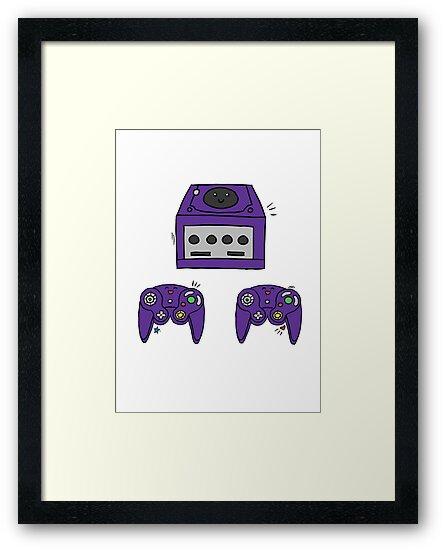 Cute Game Cube design by Anna Borowczyk