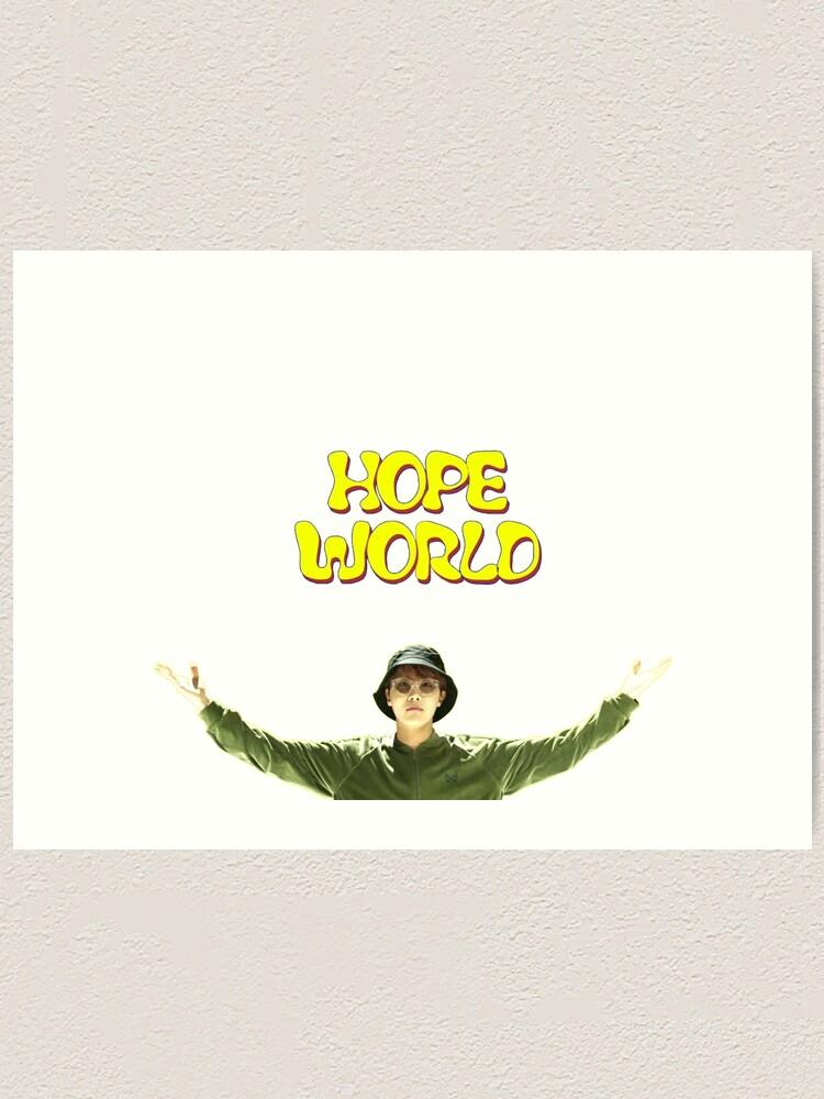 Pearlescent Art Print Room Decor BTS Hopeworld-Jhope