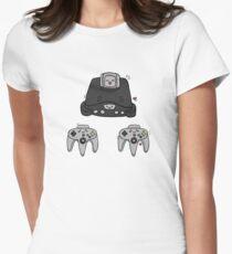 cute nintendo 46 design Women's Fitted T-Shirt
