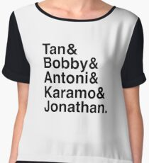 Queer Eye Tan Bobby Antoni Karamo & Jonathan Chiffon Top