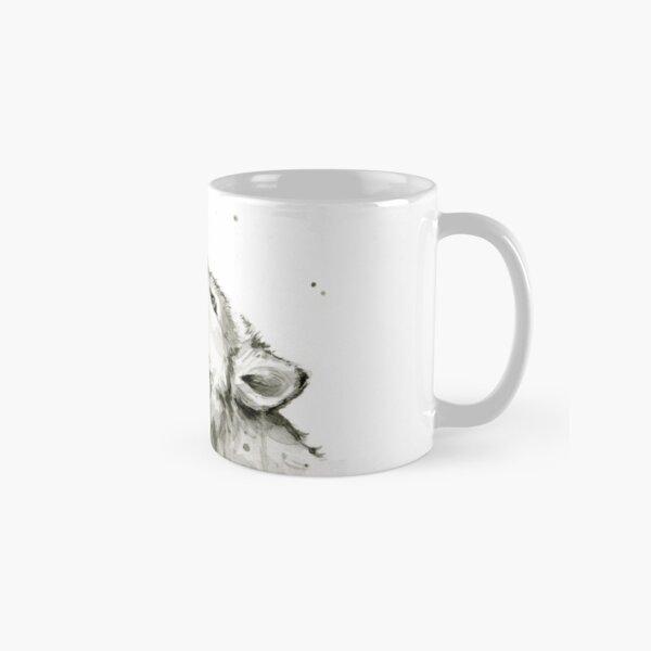 Wolf Howling Rainbow  Classic Mug