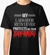 Camiseta clásica Zombie Labrador Retriever - Regalo para el dueño del Labrador Retriever