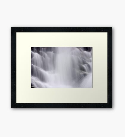 Hidden Falls - Teton National Park - Detail 2 Framed Print