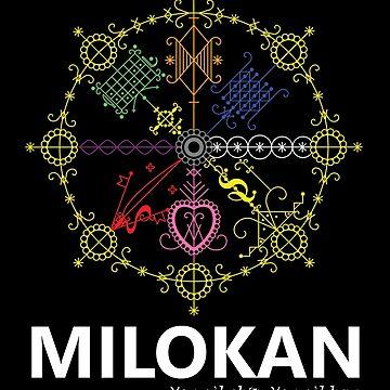 Milokan vèvè design with text (colored) by milokan