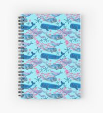 Cuaderno de espiral Sealife watercolour- blue