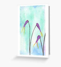 Scissors Flowers Greeting Card