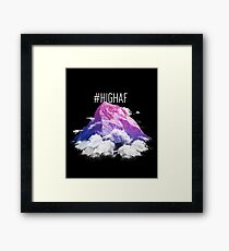 #HIGH AF Design With a Pink and Purple Mountain Top Framed Print