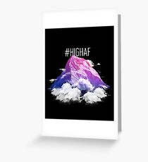 #HIGH AF Design With a Pink and Purple Mountain Top Greeting Card