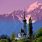 Typical Tyrolean Church Austria by Elzbieta Fazel