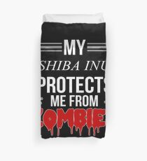 Zombie Shiba Inu - Gift For Shiba Inu Owner  Duvet Cover