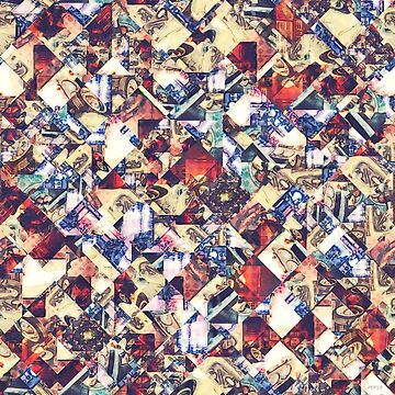 Geometric Cars Abstract by perkinsdesigns