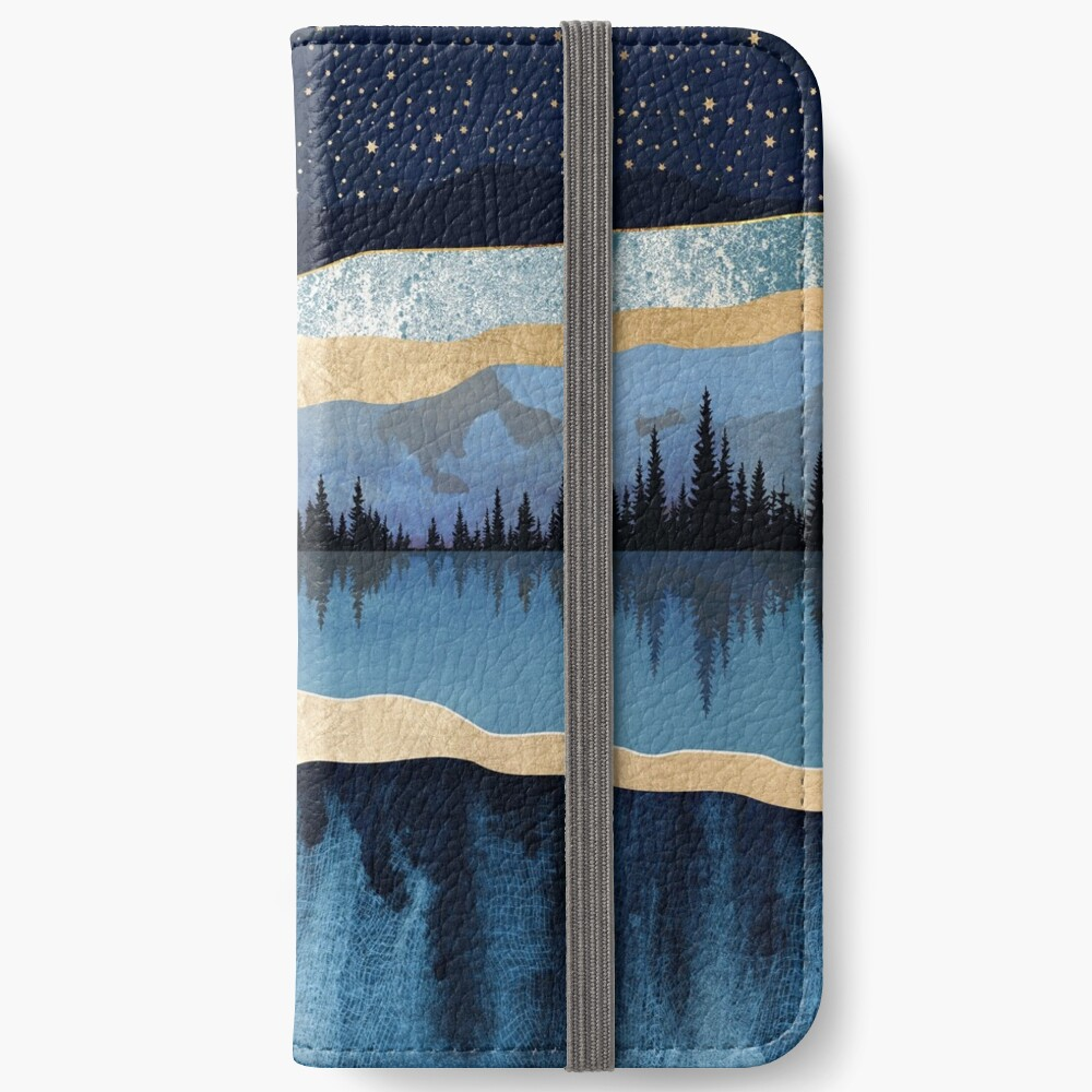 Midnight Lake iPhone Wallet