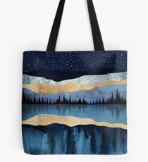 Midnight Lake Tote Bag