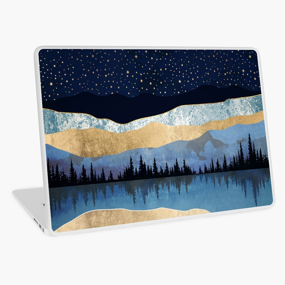 Midnight Lake Laptop Skin