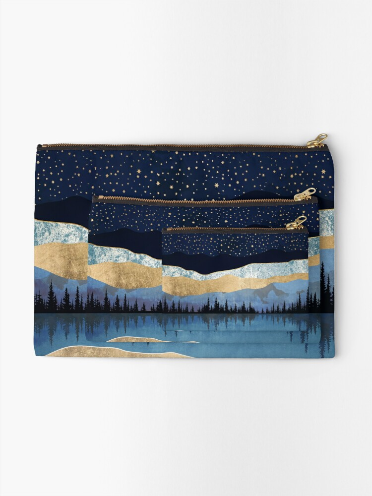 Alternate view of Midnight Lake Zipper Pouch