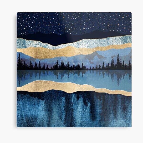 Midnight Lake Metal Print