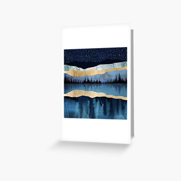 Midnight Lake Greeting Card