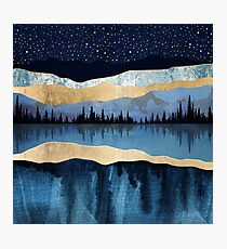 Midnight Lake Photographic Print