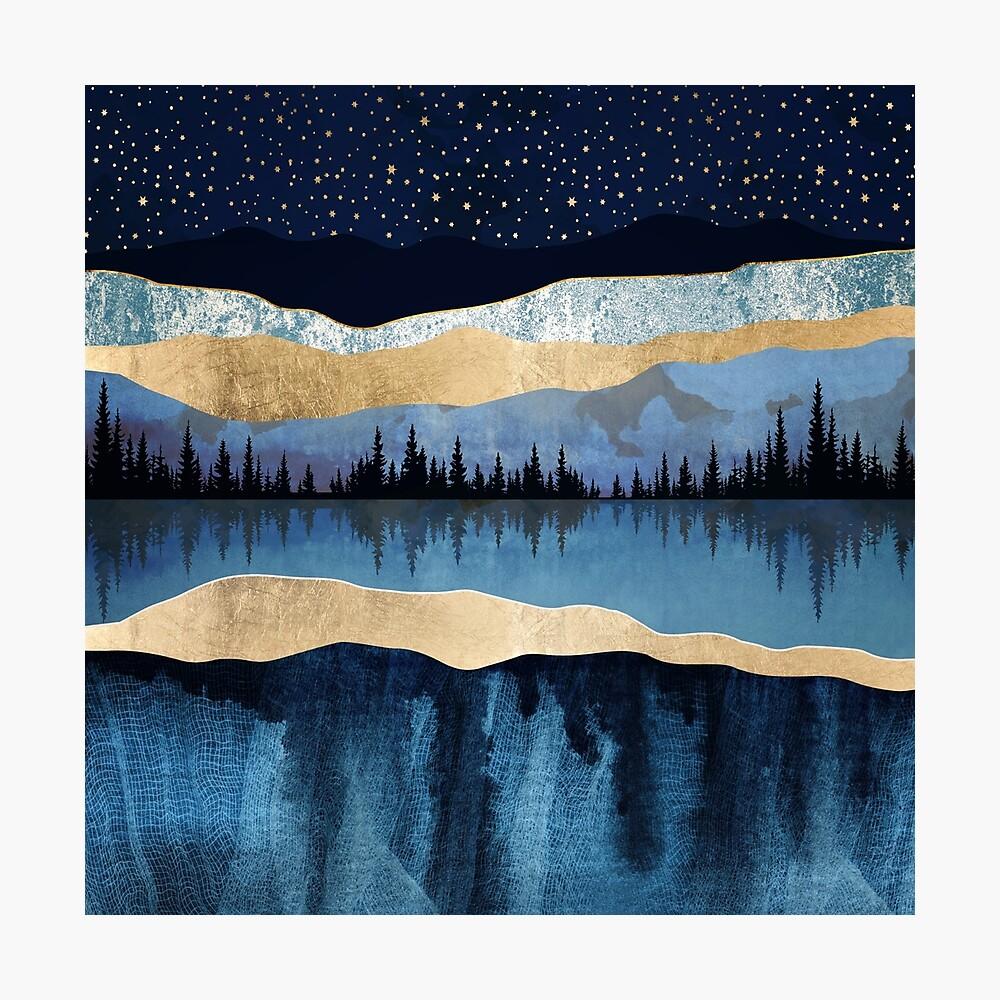 Midnight Lake Photographic Print