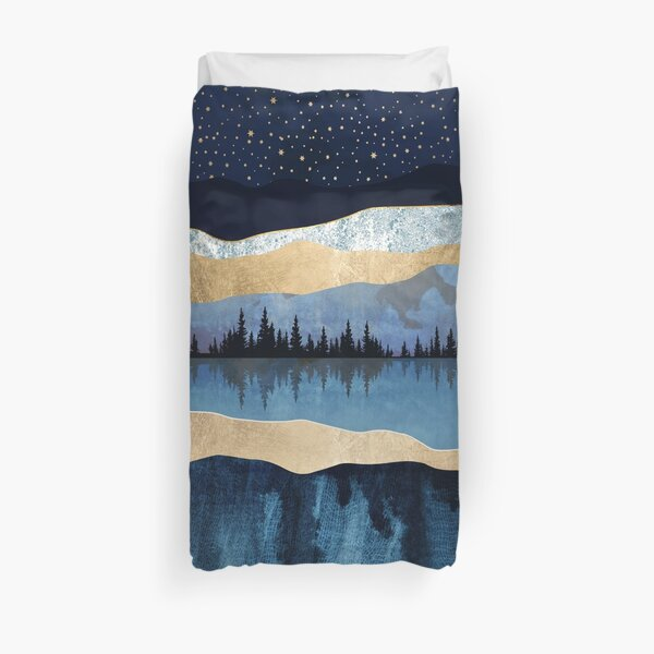 Midnight Lake Duvet Cover
