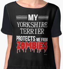 Zombie Yorkshire Terrier - Gift For Yorkshire Terrier Owner  Chiffon Top