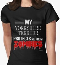 Zombie Yorkshire Terrier - Gift For Yorkshire Terrier Owner  Women's Fitted T-Shirt