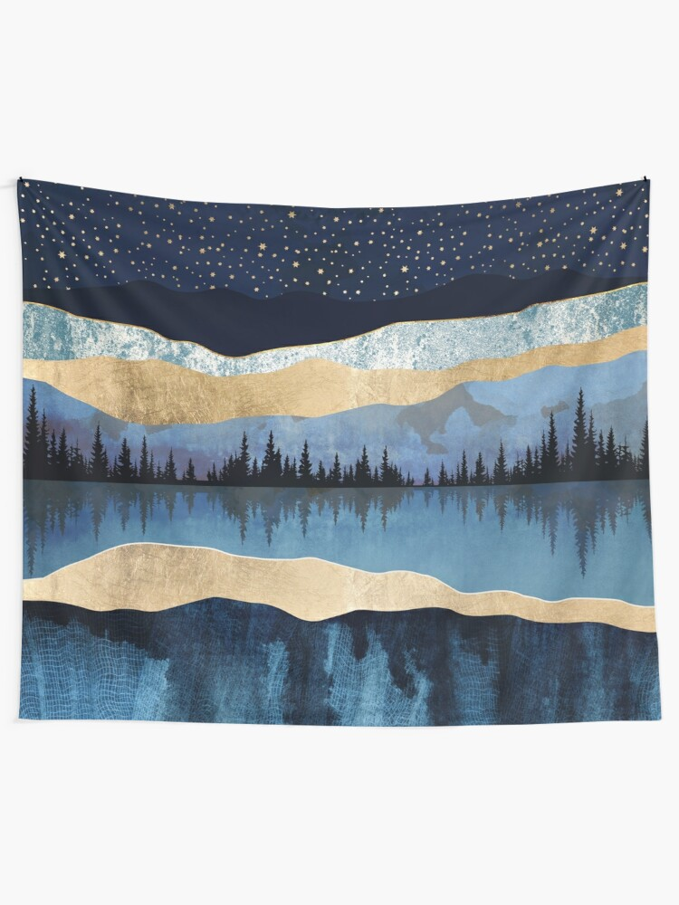 Alternate view of Midnight Lake Tapestry