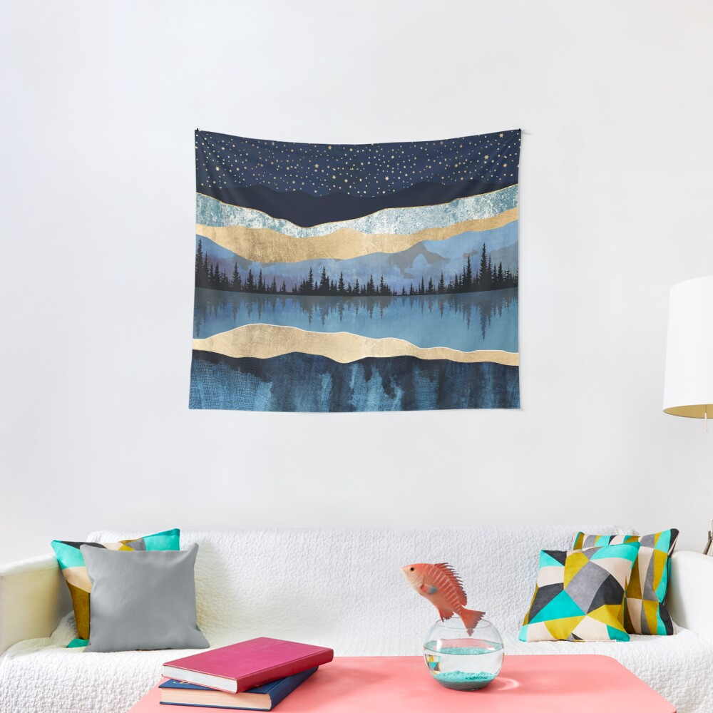 Midnight Lake Tapestry