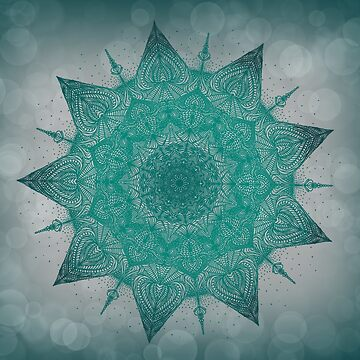 Teal mandala by Akqxxx