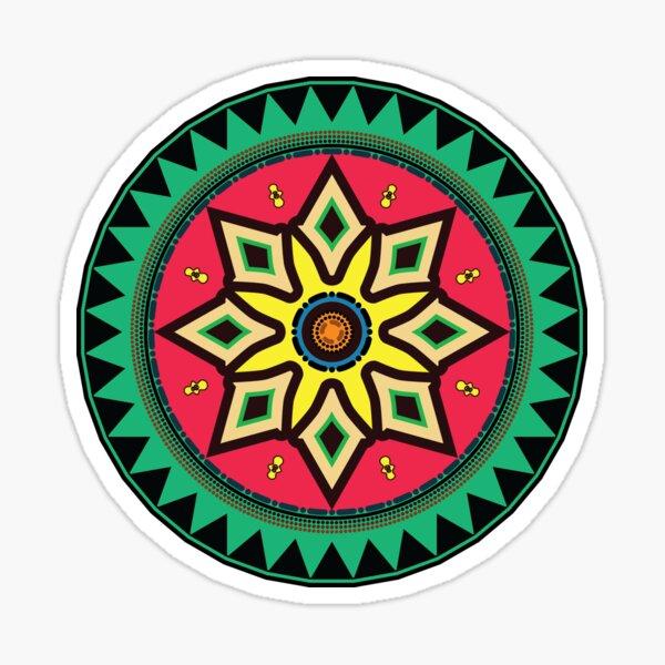 African Ethnic Motif Sticker