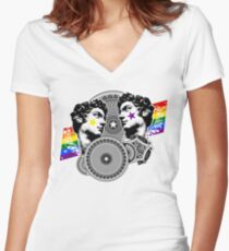 Proud to be gay Women's Fitted V-Neck T-Shirt