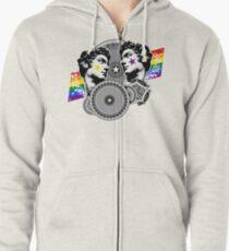 Proud to be gay Zipped Hoodie