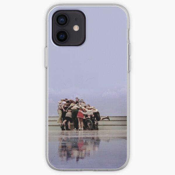 Glee cast group hug  iPhone Soft Case
